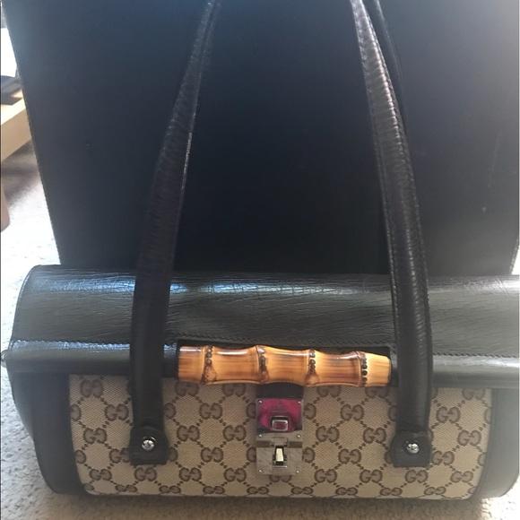 Gucci Handbags - Gucci Monogram Bamboo bullet bag